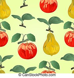 Seamless texture apple with pear  vector.eps