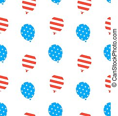 Seamless Texture Balloons for Independence Day