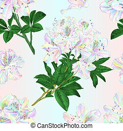 Seamless texture branches colorful rhododendrons  vintage ...