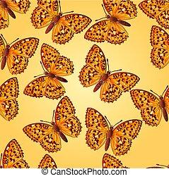 Seamless texture butterfly Argynnis