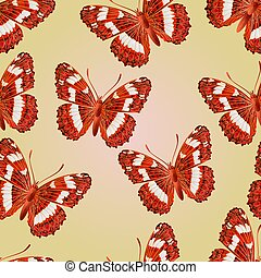 Seamless texture butterfly forest
