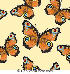 Seamless texture Butterfly Inachis