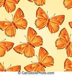 Seamless texture butterfly Lycaena virgaureae vector