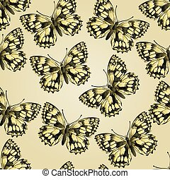 Seamless texture butterfly