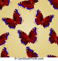 Seamless texture butterfly Nymphali