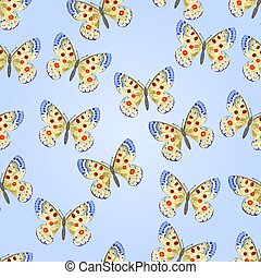 Seamless texture butterfly Parnassi