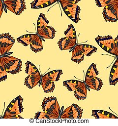 Seamless texture Butterfly Vanessa