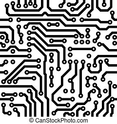 Seamless texture - circuit board - Monochrome seamless...