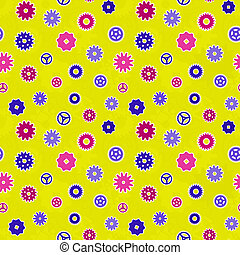Seamless texture - color gears