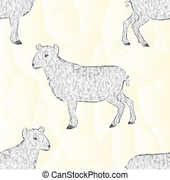 Seamless texture Easter lamb polygons vector.eps - Seamless...
