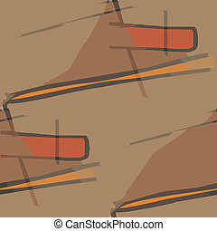 seamless texture (EPS 8) america ancient background wallpaper cubism brown impressionism