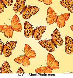 Seamless texture forest and mountain butterfly vector.eps