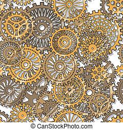 gear wheels - Seamless texture gear wheels Illuctration clip...