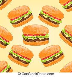 Seamless texture hamburgers vector.eps - Seamless texture...