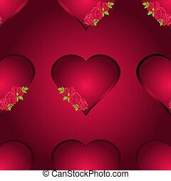 Seamless texture hearts