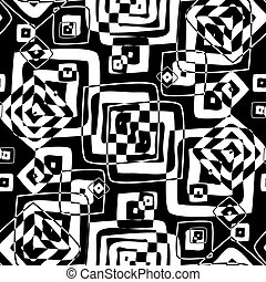 Seamless texture in black and white colors