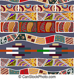 Seamless texture in the African style. Vector illustration
