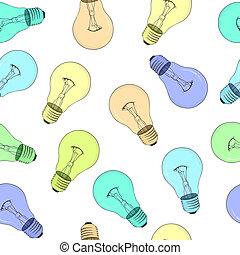 Seamless texture - light bulbs - vector eps8