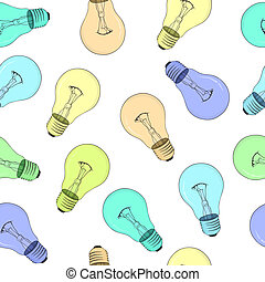 Seamless texture - light bulbs - vector eps8