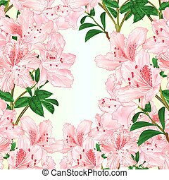 Seamless texture light pink rhododendron branch vector - ...