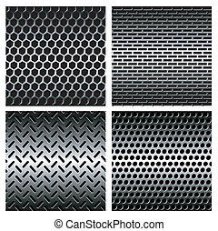 Seamless texture metal grids background. Vector