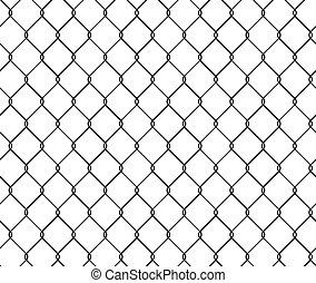 Seamless texture metal wire fence, vector illustration grid template.
