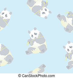 Seamless texture of a panda
