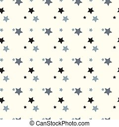 Seamless texture of a Stars. Vector flat illustration on a white background.
