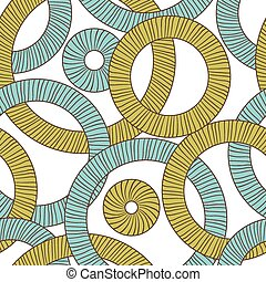 Seamless texture of abstract circles. Vector background