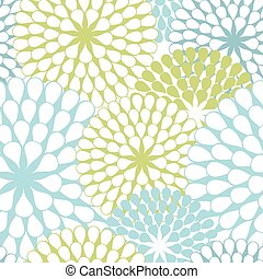 Seamless texture of abstract flowers. Vector background.