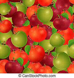 seamless texture of apples