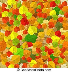 seamless texture of autumn leaves