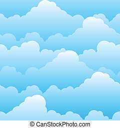 Seamless texture of beautiful clouds. Illustration for ...
