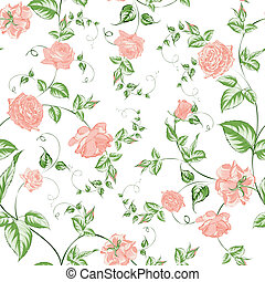 Seamless texture of beautiful roses for textiles....