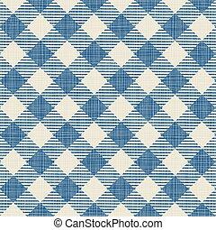 Seamless texture of blue plaid. Vector illustration