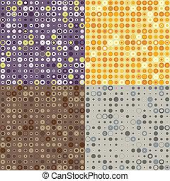 seamless texture of circles and dots