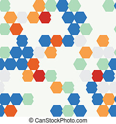 seamless texture of colored hexagon.