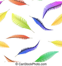 Seamless texture of colorful bird feathers