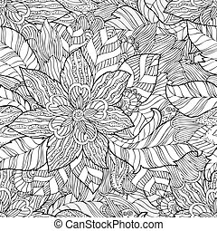 Seamless texture of fashion floral ornament