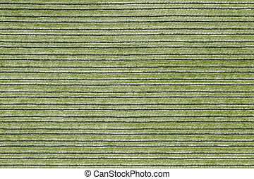 Seamless texture of horisontal stripped green polyester upholstery.