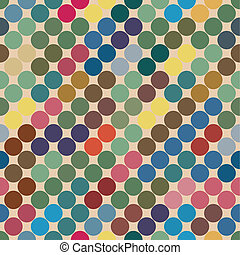 seamless texture of the circles. retro color