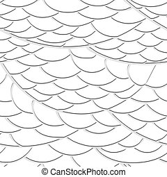 Seamless texture of the waves out of paper