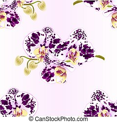 Seamless texture orchid purple and white spotted stem  vector.eps