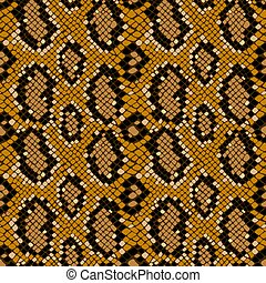 Seamless texture pattern of crocodile or snake skin leather, grunge vector background