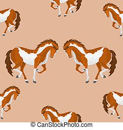 Seamless texture piebald horse vector vector illustration