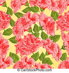 Seamless texture pink hibiscus vector.eps