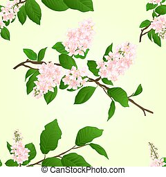 Seamless texture pink lilac branch vector.eps