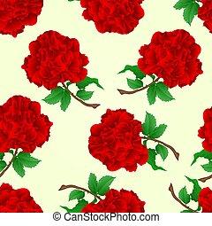 Seamless texture red rose stem  vintage vector.eps