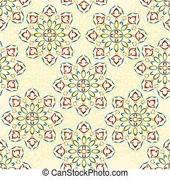 Seamless texture rosette decorative ornamental floral pattern vector