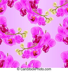 Seamless texture stem  Orchid purple vintage  vector.eps